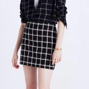 Madewell Windowpane Mini Skirt